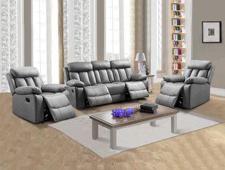 Conjunto 3+1+1: sofá tres plazas y dos sillones