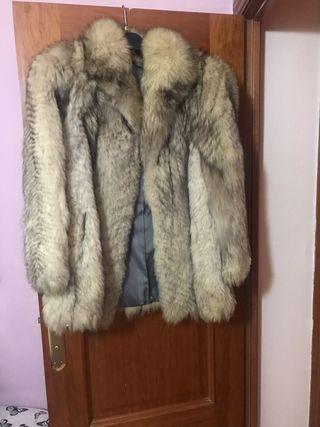 Abrigo de visón auténtico blanco