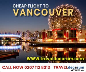 cheap flight to vancouver from london