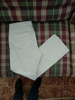 Pantalón sra vaquero blanco.