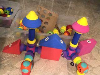 Juego construcción soft magnético bloques niños