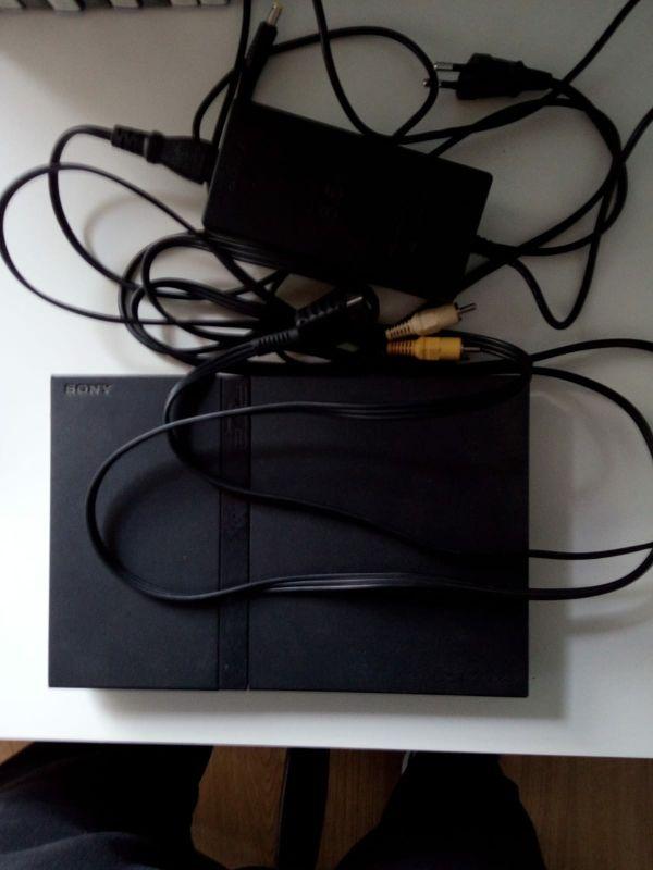 play station 2 + memory card + 10 juegos