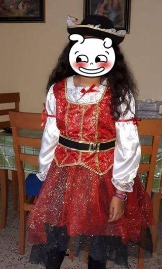 Disfraz 8-10 años, LINDA PIRATA
