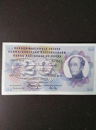 20 francos suizos.