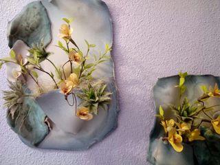 cuadros floreados de cerámica