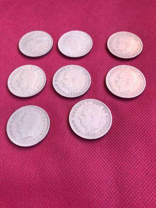 8 monedas de 50 de Juan Carlos l