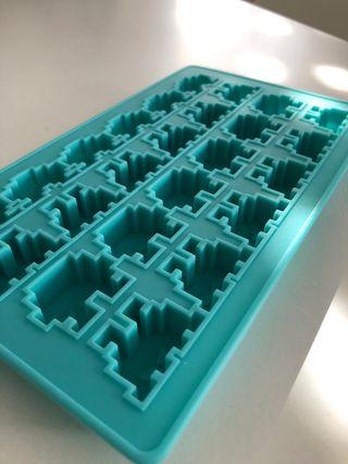 Molde de cubitos de hielo Space Invaders
