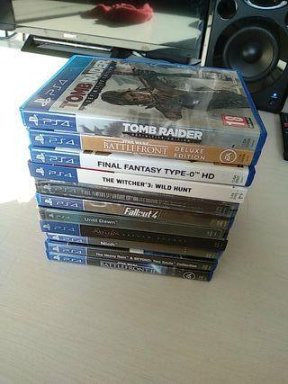 Pack Juegos PS4. Varias ediciones de colección