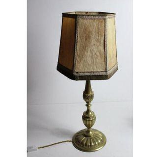 Antigua lámpara de bronce