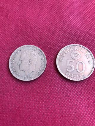 8 monedas de 50 de Juan Carlos l 1980