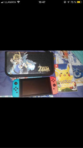 VENDO NINTENDO SWITCH CON POKEMON LET'S GO PIKACHU