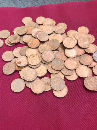 113 monedas de 1 peseta de Juan Carlo