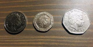Monedas Gran Bretaña
