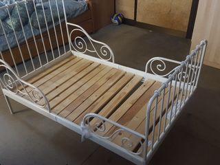 cama y somier extensible IKEA