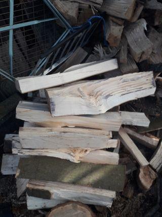 burning wood logs