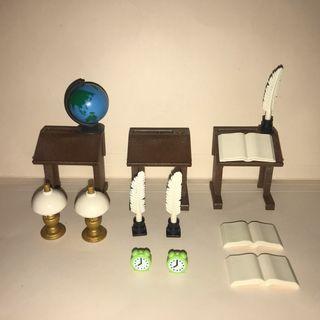 Playmobil muebles atril lámparas