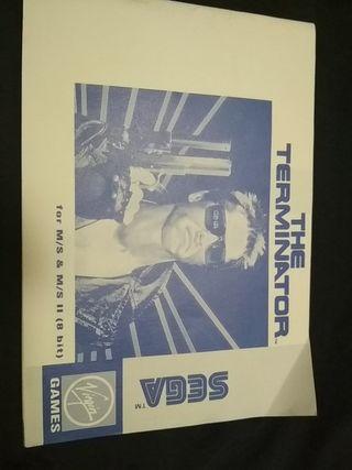 The Terminator SEGA librito juego