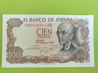 100 PESETAS 1970 SIN CIRCULAR
