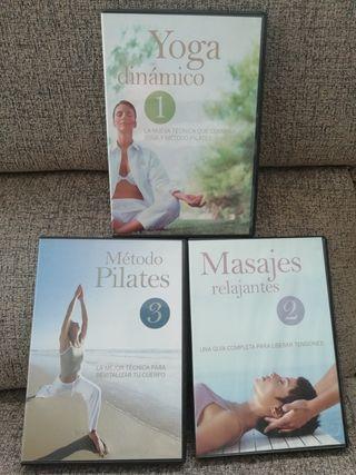 DVD yoga, plates, masajes A ESTRENAR