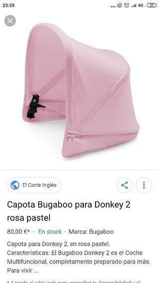 capotas Bugaboo donkey rosas