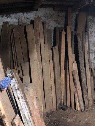 Vigas de Roble y madera castaño