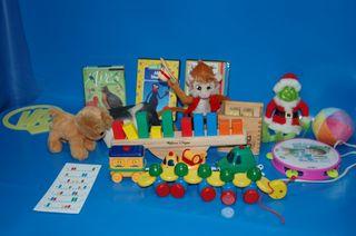 Lote variado de juguetes y juegos infantiles