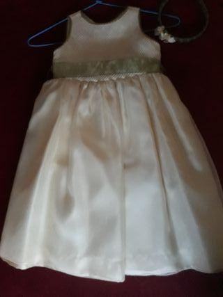 vestido de ceremonia y diadema talla 4