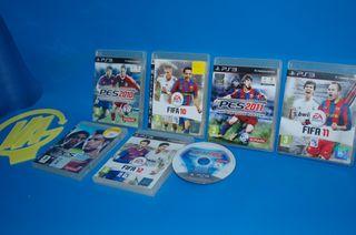 Lote de PES y FIFA play 3 comparativa 7 juegos pl