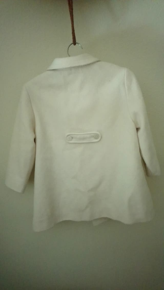 abrigo niña blanco