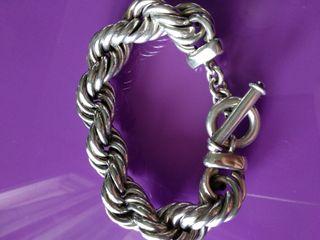 Gran pulsera de plata 925, 60 gramos
