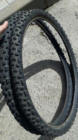 """Cubiertas bicicleta de montaña 26"""" 2 unidades"""