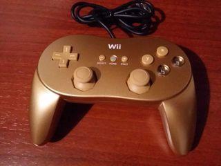 Mando clásico dorado para Wii