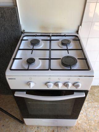 Cocina gas butano con horno grill