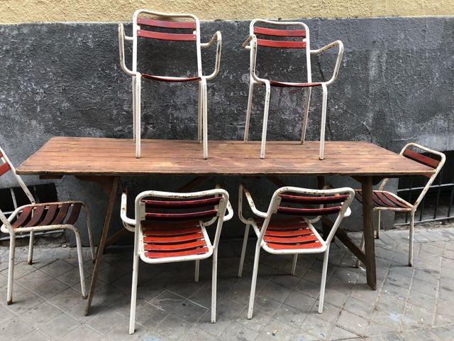 Mesa rústica de cocina de segunda mano por 450 € en Madrid en WALLAPOP