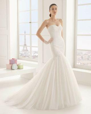 vestido de novia rosa clara de segunda mano en zaragoza en wallapop