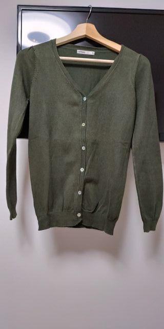 chaqueta punto talla M verde