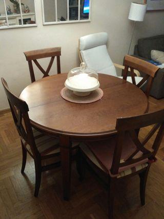 mesa comedor 4-6 comensales extensible