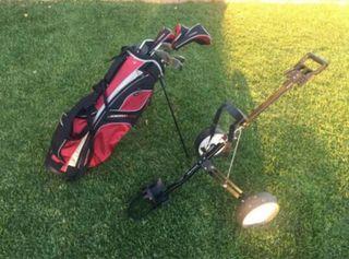 Juego Completo Palos Golf y Carro