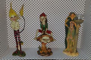 3figuras duende elfos hada