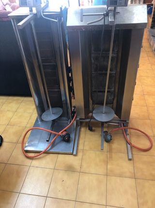 Maquina kebabs + cortador + calentador pan