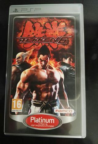 Juego Tekken 6 para psp.