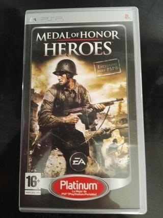 Juego Medal of Honor para psp