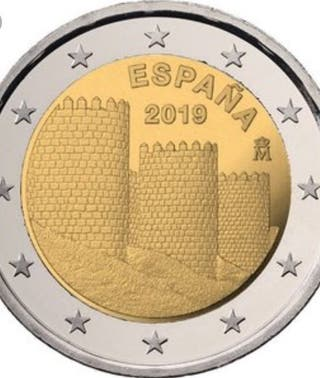 "Moneda conmemorativa 2€ 2019 ""Muralla de Ávila"""