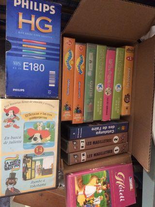 Más de 50 películas y series infantiles en VHS
