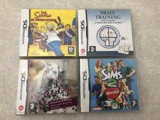 4 juegos Nintendo DS