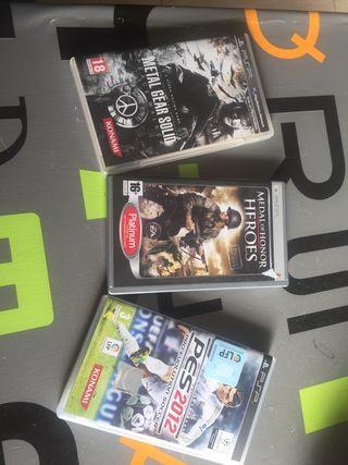 Psp pack 3 juegos! En perfecto estado