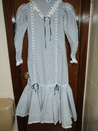 Vestido de chulapa niña, o talla pequeña adulto