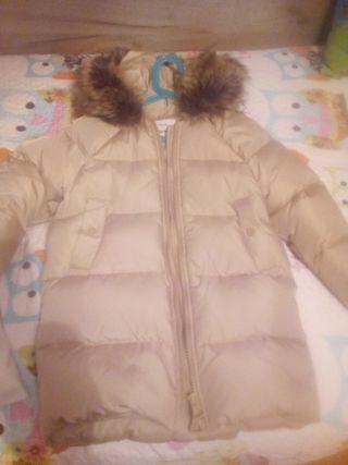abrigo plumas zara talls 8 en beig