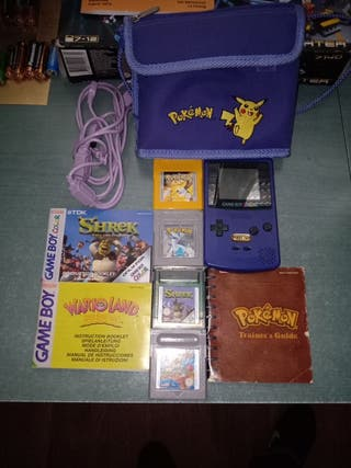 GAME BOY COLOR NINTENDO + FUNDA + 4 JUEGOS