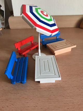 Playmobil lote terraza casa victoriana